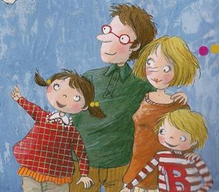 tekening van een gezin