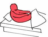 Tekening draaien in bed op de foute manier