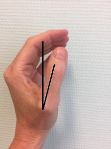 foto APB oefening duim niet gespreid