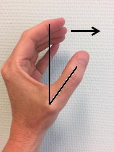 foto APB oefening duim gespreid