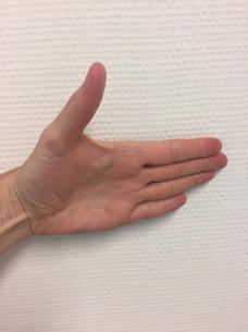 foto FPB oefening duim gestrekt naar buiten