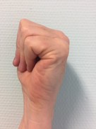 foto van oefening 'platte vuist'