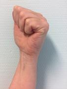 foto van de oefening 'volle vuist'