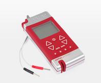 Een rood TENS-apparaat