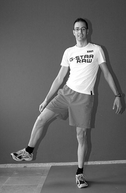 oefening 10 op één been staand balans