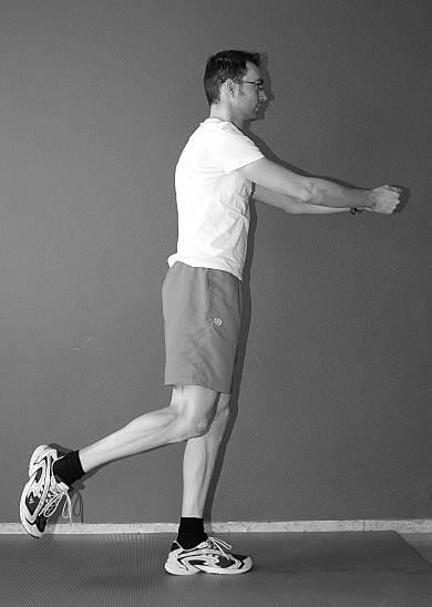 oefening 11 balans op één been naar achter
